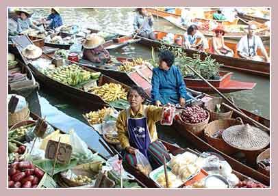 Экскурсия на плавучий рынок в провинции Ратчабури