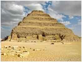 первая ступенчатая пирамида в древнем Египте