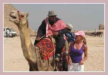турист на верблюде