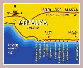 карта Антальи