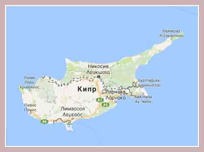 Общие сведения о Кипре, Карта Кипра