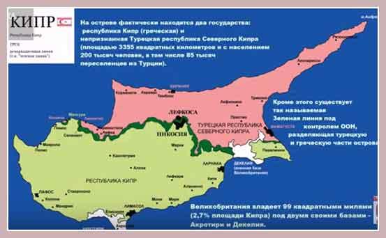 нынешняя карта Кипра