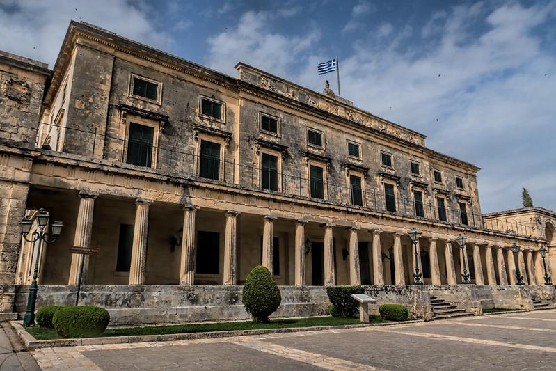 острова Греции с прямым рейсами из России: Корфу, Дворец святых Михаила и Георгия