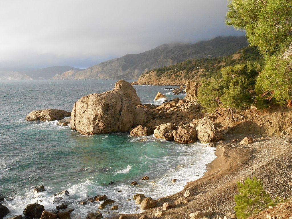 Пляжи Севастополя: пляж Инжир, мыс Айя, Крым